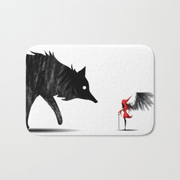 Little Red and the Big Bad Wolf Bath Mat