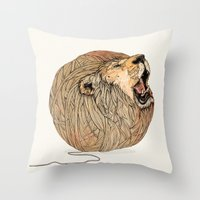 dragon ball z Throw Pillows featuring Unravel Me by Sandra Dieckmann