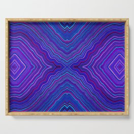Abstract #9 - IX - Brilliant Blue Serving Tray