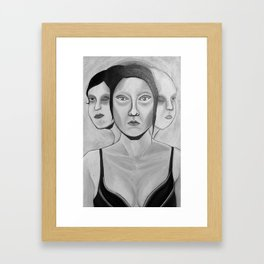 my incomplete faces Framed Art Print