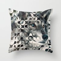 into the wild Throw Pillows featuring wild by Vin Zzep