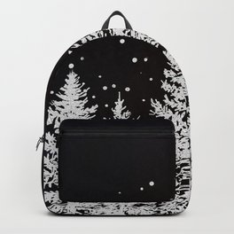 Trees in a Winter Forest Backpack