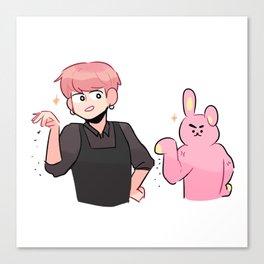 bts: two meme bunnies Canvas Print