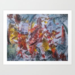 Birds and Cages Art Print