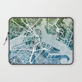 Boston Massachusetts Street Map Laptop Sleeve