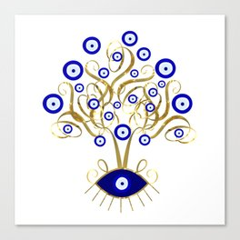 All Seeing Evil Eye Tree Canvas Print