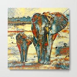 AnimalArt_Elephant_20170903_by_JAMColorsSpecial Metal Print