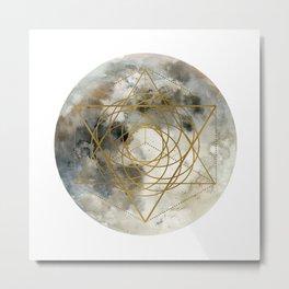 Geometric Moon #1 Metal Print