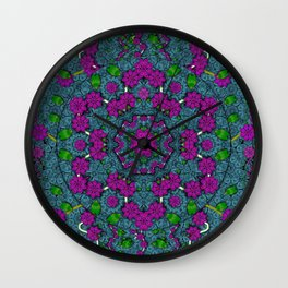 the most beautiful flower forest on earth Wall Clock