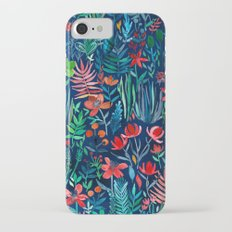 Tropical Ink - a watercolor garden iPhone 7 Slim Case