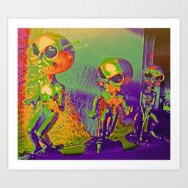 Alien Runners Art Print