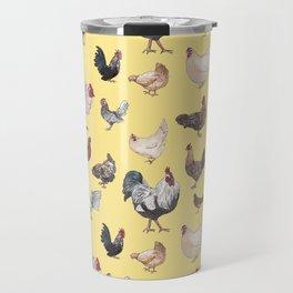 Chicken Happy (yellow) Travel Mug