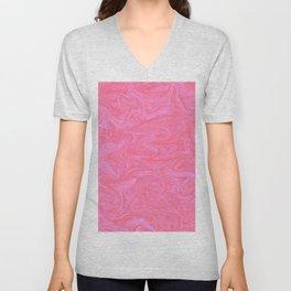 Pink Liquid Marble Unisex V-Neck