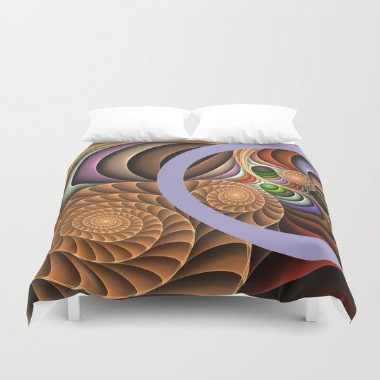 Pattern in motion, fractal geometric art Duvet Cover
