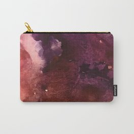Starlight [2]: a pretty abstract watercolor piece in reds and purples by Alyssa Hamilton Art Carry-All Pouch