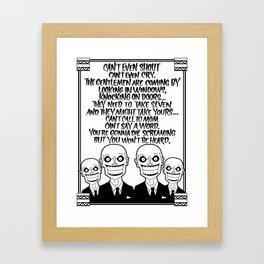 Buffy the Vampire Slayer -- Hush Poster (White) Framed Art Print
