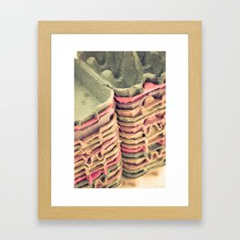 Colorful Egg Cartons Framed Art Print