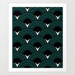 Art Deco Shell Print Art Print