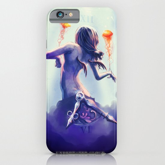 Underwater Clock - Jellyfishes iPhone & iPod Case