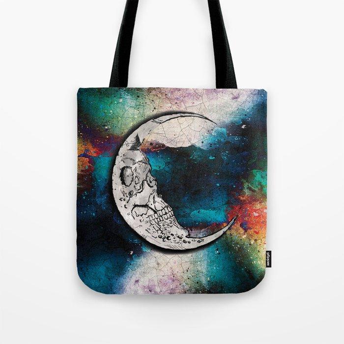 Sugar Skull Moon Art Tote Bag