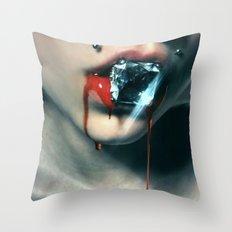 Blood Diamond Throw Pillow