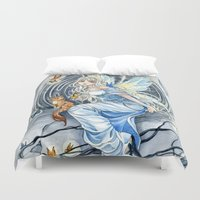 labyrinth Duvet Covers featuring Labyrinth Fairy by Meredith Dillman