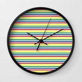 Carnival Stripes Wall Clock