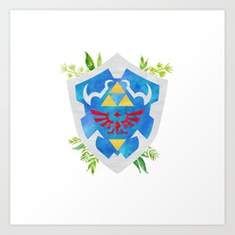 One Shield to Hyrule Them All Art Print