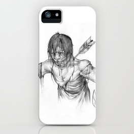 Oni Samurai Wounded iPhone Case