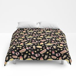Skyline Chili Pattern Black Comforters