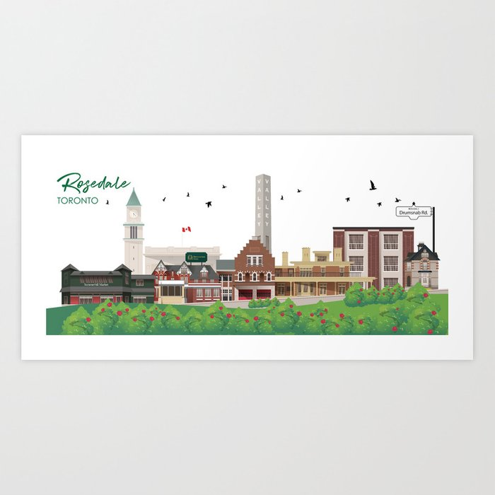 Rosedale - Toronto Neighbourhood Art Print