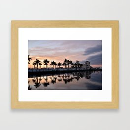 Reflecting Palms Framed Art Print