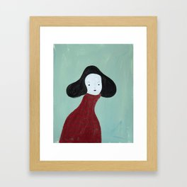 My Red Sweater Framed Art Print