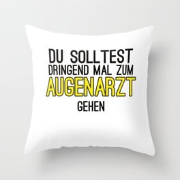 Ophthalmologist Testing Blurred Gift Throw Pillow