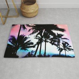 Sunset Summer Palm Trees Rug