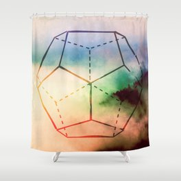 The Elements Geometric Nature Element of Spirit Shower Curtain
