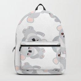 Seamless pattern - Funny cute koala on white background Backpack
