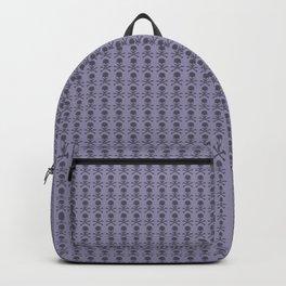 Black and Lavender Skulls Backpack