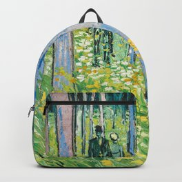 Undergrowth with Two Figures by Vincent van Gogh Backpack