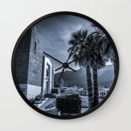 Small Town Church Wall Clock