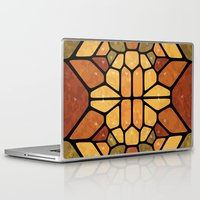 sacred geometry Laptop & iPad Skins featuring Sacred geometry - Voronoi by Enrique Valles