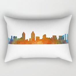 San Diego California City Skyline Watercolor v01 Rectangular Pillow