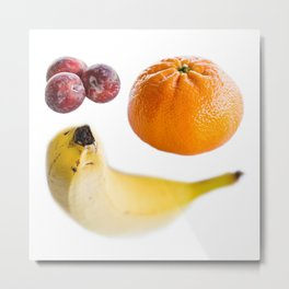 Plums, Banana and Orange Metal Print