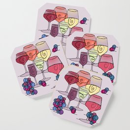 Wine and Grapes v2 Coaster