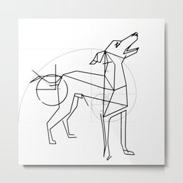The Perfect Greyhound Metal Print