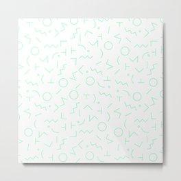 MEMPHIS II ((seafoam green)) Metal Print