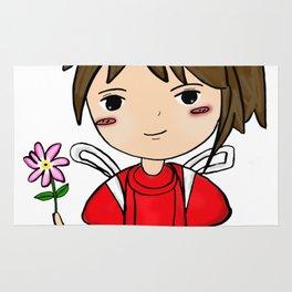 Spirit Away - Chihiro with flower Rug