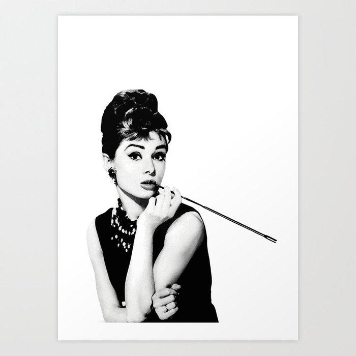 Audrey Hepburn Poster Art Print by hadasi | Society6
