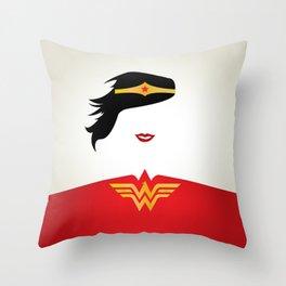 Wonder Girl Throw Pillow