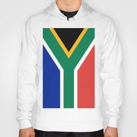south africa Hoodies featuring Flag of South Africa by Neville Hawkins
